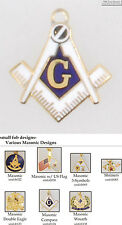 Masonic, Fraternal, & Brotherhood fobs, various designs & watch chain options