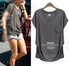 2015 New Trends Loose casual short-sleeved Women Basic T-shirt Tee Tops Blouse