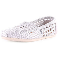 Toms Satin Classics Womens Satin Silver Espadrilles New Shoes All Sizes