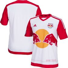 adidas New York Red Bulls MLS 2015 / 2016 Soccer Home Jersey  White / Red