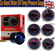 "2"" 52mm LED Auto Car Truck Boost /Oil Pressure /Water Tempe/ Volt Gauge Meter-UK"