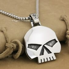 316L Stainless Steel Huge & Heavy Skull Mens Biker Rocker Pendant AJ015A