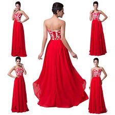 PRINCESS RED Long Prom Dresses Evening Party Bridesmaid Formal Gowns Plus Size