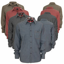 URBAN CLASSICS   Chambray Shirt Herren Freizeit Business Hemd TB410