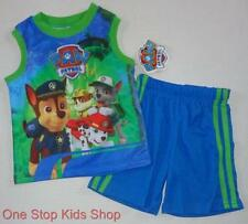 PAW PATROL Toddler Boys 2T 3T 4T 5T Set OUTFIT Shirt Shorts Rocky Chase Puppy