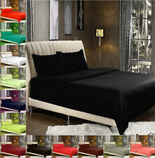 PLAIN SOLID SINGLE DOUBLE KING SIZE DUVET COVER WITH PILLOW CASE BED BEDDING SET