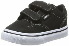 VANS WINSTON Boy's Toddler Black Canvas Athletic Skate Sneaker Fashion Shoes New