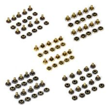 50Sets Double Sided Rivets Fasteners Studs Button Sewing Leather craft Jeans 6mm