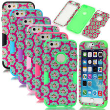 Deluxe Flower Matte Dual Layer Hybrid Shockproof Lady Case For iPhone 6 6S Plus