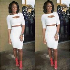 Women Sexy Club Party Wear Bodycon Splicing shorts two piece bandage Dress DJNG