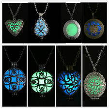 Glow in the Dark New Fashion Hollow Heart Pendant Women Necklace Gifts Jewellery