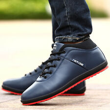 NEW PU Leather Footwear  Mens rubber Casual Dress Shoes Comfortable flat Fashion