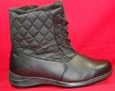 NEW Women's TOTES KATE Black Winter/Rain Faux Fur Insulated Waterproof Boots