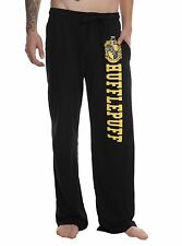 Harry Potter HufflePuff Crest Button Mens Pajama Sleep Lounge Pants S, M