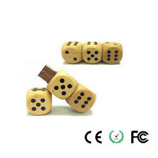 2015 Customized Wooden Natural Dice Model USB 2.0 Flash Pen Drive For Computer