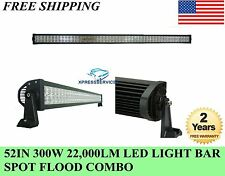 52'' 300W LED Work Light Bar Spot Flood Combo 4WD Offroad SUV Truck 4X4 Fog Lamp