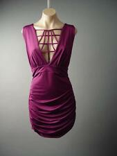 Plum Purple Cage Collar Ruched Wedding Party Evening 134 mv Dress 1XL 2XL 3XL