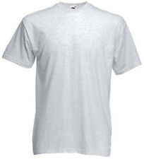 NEW! Mens Ash Gray FRUIT OF THE LOOM Crew Neck T-Shirt SIZE S - 3X