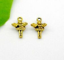 Free Ship 10/100Pcs GOLD PLATED Girl CHARMS FIT BRACELET 19.5x12mm