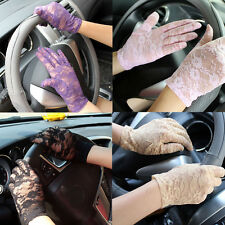 7 Colors High Quality Lace Sexy Lady Summer Driving Sunscreen New Gloves 22*8CM