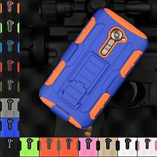 Rugged Armor Hybrid Case Cover with Belt Clip Holster For LG G2 VS980 Verizon