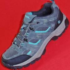 NORTHSIDE Women's Gray/Teal Suede Casual Trail Hiking Walking Boots Shoes NEW