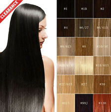 Discount! Human Hair Extensions Weft Straight/Bodywave Hairpiece 100g/Bundle