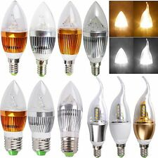 LED Chandelier Candle Light Bulb E14 E27 Flame 3W 9W 12W High Power