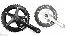 Miche Primato Advanced Track Fixed Gear Crankset Silver and Black Bicycle Bike