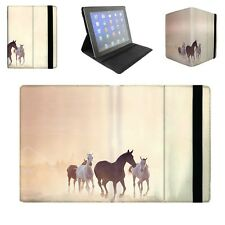 Horses on Dusty Plain Tablet Flip Case for Apple iPad Air Mini, Kindle Fire, Sam