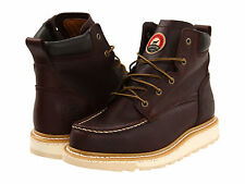 "RED WING Mens Irish Setter 6"" Wedge Soft Toe Work Boots Brown Leather 83605"