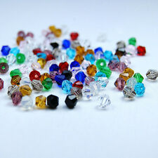 20-200Pcs 4-8mm Mixed Color Czech Crystal Bicone Beads DIY Jewelry Findings