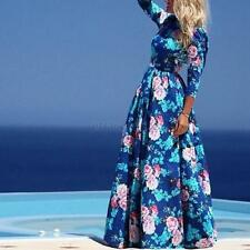 New Sexy Women Ladies Summer Boho Long Maxi Evening Party Dress Floral Sundress