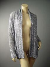 Urban Outfitters Gray Marled Knit Rustic Jumper Open Sweater 136 mv Cardigan S M
