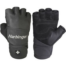 Harbinger 130 Classic Wristwrap Weight Lifting Gloves - Black
