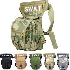 5Colors! Multifunction SWAT Useful Drop Leg Utility Waist Carrier Belt Bag Pack