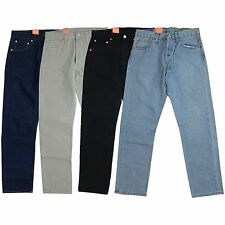 NEW Levi 501 Jeans Mens Original Levi's Strauss Denim Straight Fit Trousers