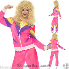CL407 Womens 80s Height Fashion Scouser Tracksuit Shell Suit Costume Fancy Dress
