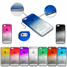 New 3D Ultra Thin Clear Raindrop Crystal Hard Case Cover For iPhone 5 5S SE