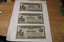 3 NOTES -----  BERKSHIRE COUNTY CLEARING HOUSE CERTIFICATE 1933 MASSACHUSETTS