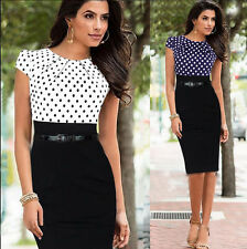 2015 Sexy Womens Cap Sleeve Bodycon Office Wear To Work Pencil Dress PARTY Gowns