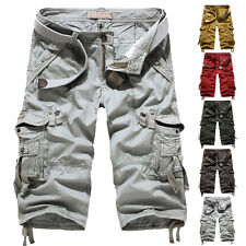 New Mens Military Army Cargo Casual Camo Combat Work Short Pants Trousers Shorts