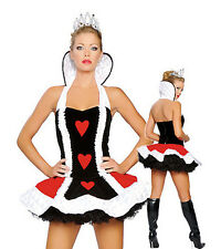 Women's Queen of Hearts Alice In Wonderland Costume Fancy Dress Party Outfit