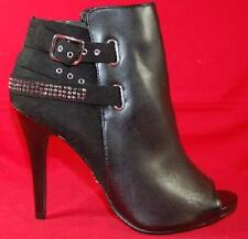 Womens ROCK REPUBLIC HANLEY Black Peep Toe Heel Fashion Dress Boots/Shoes NEW