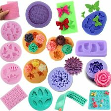 3D Silicone Fondant Embossing Mold Mould Sugarcraft Baking Tools Cake Decoration
