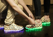 HOT Sell Unisex lace Up Marquee USB light high top sneakers flat shoes