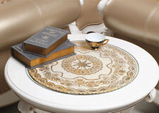 Hollow gold stamp tablecloth PVC table Cloth Cover Round / Square tablecloth