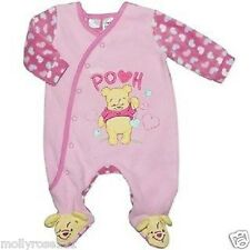 Baby Girl Winnie The Pooh Plush Winter One 1 Piece Romper Outfit