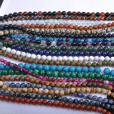 New Natural Gemstone Round Spacer Loose Beads 4-12MM Craft DIY Jewelry Findings