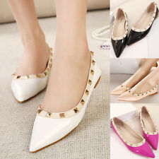 Popular Studded Candy Color Ballet Ballerina Sexy Pointy Toe Slip On Flats Shoes